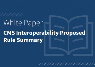 CMS Interoperability Proposed Rule Summary