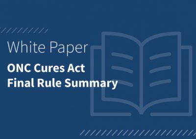 ONC Cures Act Final Rule Summary (PDF)