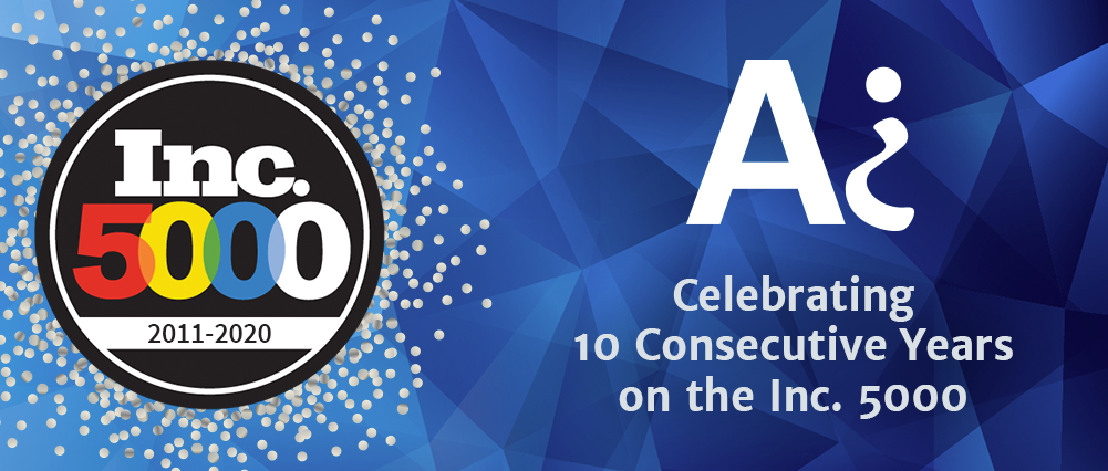 Audacious Inquiry celebrates 10 consecutive years on the Inc. 5000
